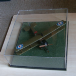 AVRO 540 Really nice kit built plane in display case 1:48 scale @SOLD@
